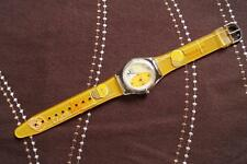 STUNNING FUN WATCH YELLOW,NEW BATTERY FITTED,KEEPING TIME