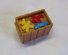 Fisher Price Little People CRATE of TOYS AIRPLANE CAR TEDDY BEAR Christmas Train