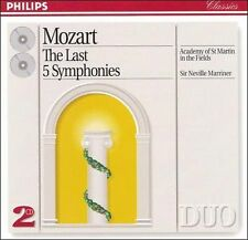 Mozart: The Last Five Symphonies (CD, Jun-1993, 2 Discs, Philips)