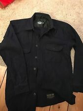 Dockers/Levi's Navy Wool CPO Shirt - Medium - Made In Portugal