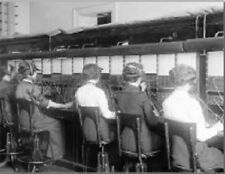 """*Postcard-""""The Operators"""". ..Handling Telephone Calls"""" -Old Fashioned Way*"""