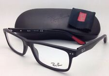 New RAY-BAN Eyeglasses RB 5277 2077 52-17 Sandblasted Black Frame w/ Demo Lenses