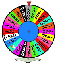 """24"""" Spinning Prize Wheel Fits with Wheel of Fortune Theme"""