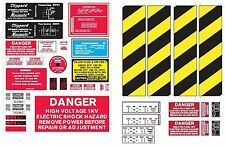 STICKER / LABEL SHEET GHOSTBUSTERS DIY COSPLAY PROTON PACK & GHOST TRAP LABELS