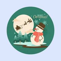 Snowman Christmas Decoration Sticker Window Wall Decal Sleigh Reindeer Santa