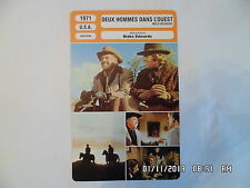 CARTE FICHE CINEMA 1971 DEUX HOMMES DANS L'OUEST William Holden Ryan O'Neal