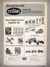 Testors Toy, Model Kit & Supply PRINT AD - 1973 ~ toys, models, hobby