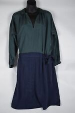 NWT $650 Burberry Brit Veronica Silk Vintage Green Dress US 4