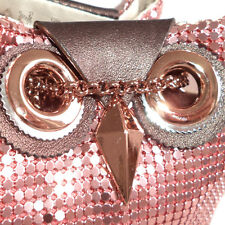 KATE SPADE NIGHT OWL Rose Gold Chain Mail Handbag Purse Bag Evening Belle NWT