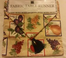 """Live Ur Lifestyle Fabric Table Runner 13"""" x 72""""  FRUITS, FREE SHIPPING"""