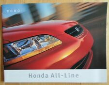 HONDA RANGE 2000 Canadian Mkt Brochure - S2000 CR-V Odyssey Prelude Accord Civic