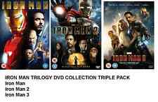 IRON MAN TRILOGY DVD TRIPLE PACK PART 1 2 3 SET ORIGINAL MARVEL BOX Brand New UK