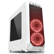 CiT Prism White RGB Midi Tower PC Case 2 x RGB Front Fans 1 x USB 3.0