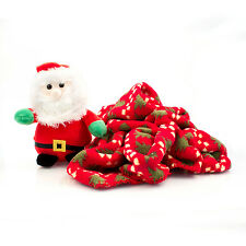 Farther Christmas Soft Toy Teddy & Fleece Blanket Santa & Christmas Tree Blanket