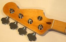 All parts Maple Neck for vintage Fender Precision/Jazz Bass PMO/oil  w/Tuners