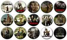 "WALKING DEAD - Lot of 15 - Pin Back - 1"" Buttons Badges (One Inch) - ZOMBIE"