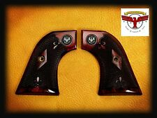 RUGER OXBLOOD GRIPS ~ SUPER BLACKHAWK + CHECKERING + Silver Liberty Eagle Med ^