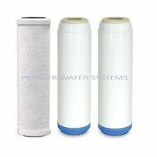 Carbon Block/Flouride Removal/Alkaline&KDF Multi media Water Filters (3 PC) Set