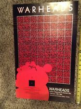 Warheads Anti Nuclear War Protest poster 1984 Cleveland Canton 14x22 poster