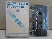 LEN-E Live at Keith Ultra House DJ Mix 1994 Bournemouth RARE Cassette Tape Rave