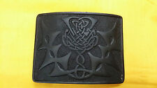 Men's Kilt Belt Buckle Thistle Knot Black Finish/Celtic Thistle Buckle Kilt Belt