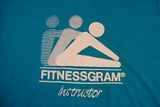Vintage FitnessGram Instructor Work Out Healthy fitness gym Fast Fit T Shirt S