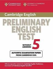 Cambridge Preliminary English Test 5 Student's Book: Paper 5 (PET Practice Tests