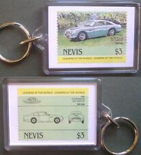 1966 Aston Martin DB6 Car Stamp Keyring (Auto 100 Automobile)