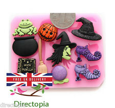 Silicone Witch Fairy Tale Halloween Fondant Sugar Paste Cake Decorating Mould
