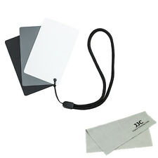 JJC 3in1 Digital Black/White/Grey Gray Color Balance Cards 18%