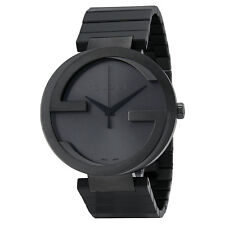 Gucci Interlocking G Anthracite Dial Grey PVD Mens Watch YA133210
