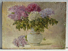 Original Ukrainian Impressionism Realism Oil Painting Still-Life Flowers