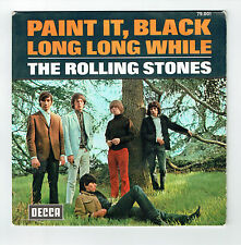 "The ROLLING STONES Vinyl 45T 7"" PAINT IT BLACK -LONG LONG WHILE DECCA 79001 RARE"