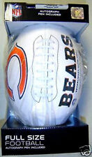 Chicago Bears Rawlings White Full Size Fotoball Autograph Football New In Box
