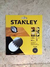 Stanley STA 13255-XJ 160mm Diameter 20mm bore 40 Teeth Fine Cross Cut Saw Blade