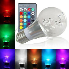 E27 RGB 16 Color Changing 3W LED Crystal Bulb Lamp Light with IR Remote Control