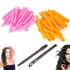 "40 PCS 55CM 22"" Curl DIY Hair Curlers Tool Spiral Circle Magic Styling Rollers"