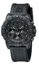 EMS Free ! NEW Luminox Colormark Navy Seals 3081 BO Blackout Chronograph Watch