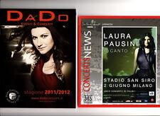 LAURA PAUSINI flyer apribile piu' programme concerti DADO Ancona