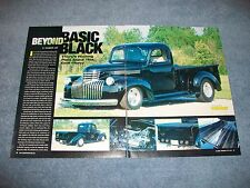 "1946 Chevy Pickup Truck Hot Rod Article ""Beyond Basic Black"""