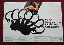 1968 Print Ad Uniroyal TIGER PAW Tires ~ Three More Claws w/ New Wide Tiger Paw