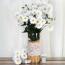 88 White SILK DAISY Flowers Wholesale Wedding Party Bouquets Centerpieces SALE