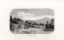 Stampa antica FIRENZE veduta della Valle dell' ARNO 1880 Old print Engraving