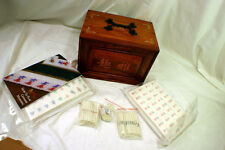 Chinese Bone Bamboo Five Layer Mahjong Mah-Jong Set