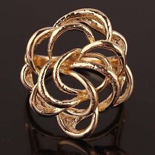 High Quality Woman Man 14k Gold Filled US size 10 Chic Flower  Ring Jewelry C117