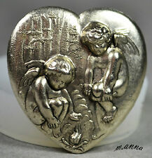 HEART ANGEL CHERUB SILICONE MOULD  cupcake fimo resin plaster chocolate mold