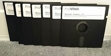 "MICROSOFT WINDOWS 3.1 INSTALL COMPLETE 7 FLOPPY DISK SET 5.25"" CLEAN VERY RARE"