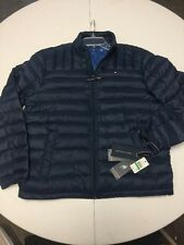 Tommy Hilfiger Men's Packable Down Jacket, Navy, Large NWT