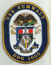 USS ZUMWALT DDG 1000 Guided Missile Destroyer Military Patch PAX PROPTER VIM