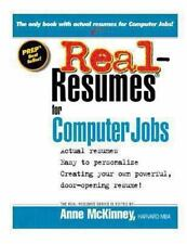 Real-Resumes for Computer Jobs by Anne McKinney (2012, Paperback)